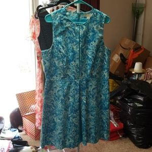 Michael Kors blue/white dress size 14